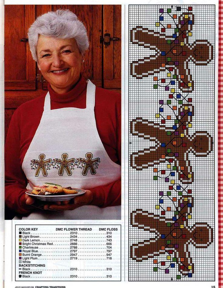 Gingerbread em Ponto Cruz | Ponto Cruz-Cross Stitch-Punto Cruz-十字绣-Punto Croce-Kreuzstitch-Point de Croix-вышивк