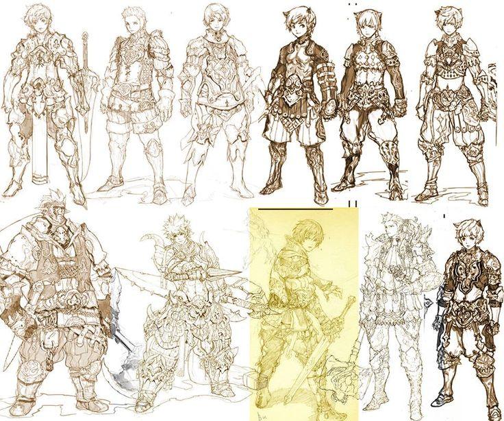 Sung-choul Ham_ old rough concept sketch. boys-1