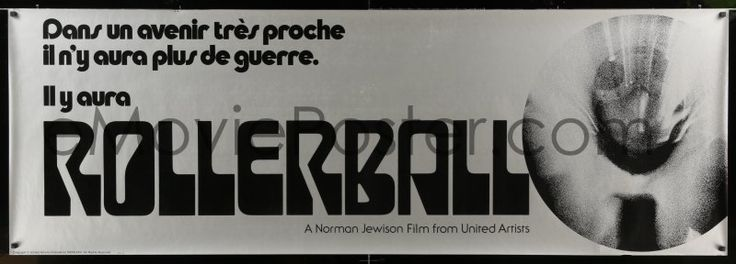 eMoviePoster.com Image For: 8j097 ROLLERBALL export French 26x76 special '75 James Caan, John Houseman, very different!