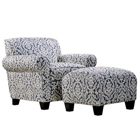 Willmette Accent Chair & Ottoman. Love the style not necessarily the fabric