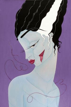 Rebecca Murphy    Made With Love - Bride of Frankenstein - 2012    Acrylic and archival ink on wood    60 x 90 cm