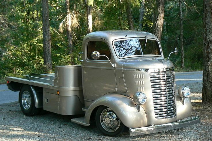 1939 Chev Cabover Truck in silver. Classic!