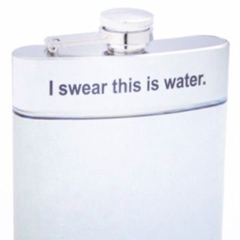I Swear This Is Water Hip Flask | Spotted on Keep