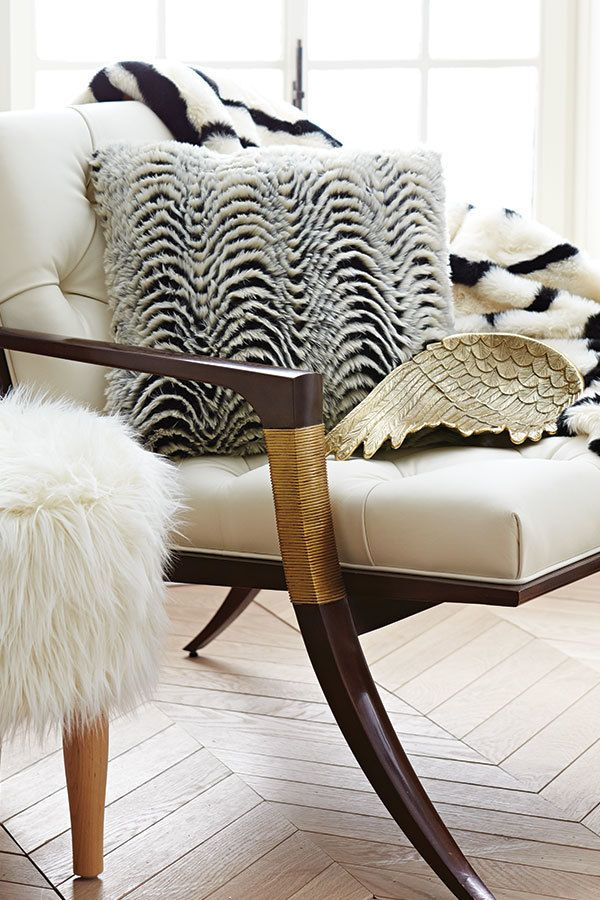 It's mix and match heaven with Nate Berkus' latest collection of faux fur and metallic flourishes that feel absolutely made for each other. Talk about enhancing a room.