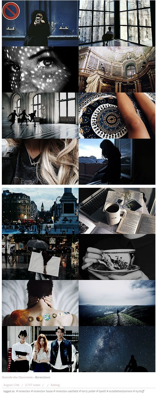 Serenity-v | Outside the Classroom | Ravenclaw aesthetics