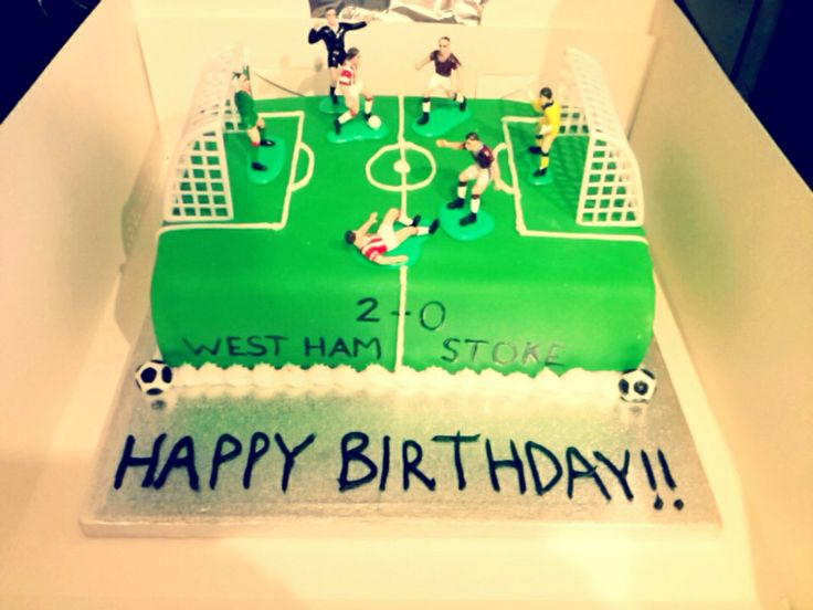 Football pitch cake, for my bosses son :)
