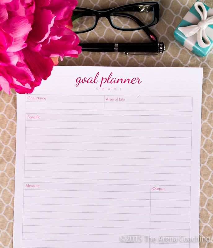 Goal Planner - 2016 Printable by TheArenaCoaching on Etsy