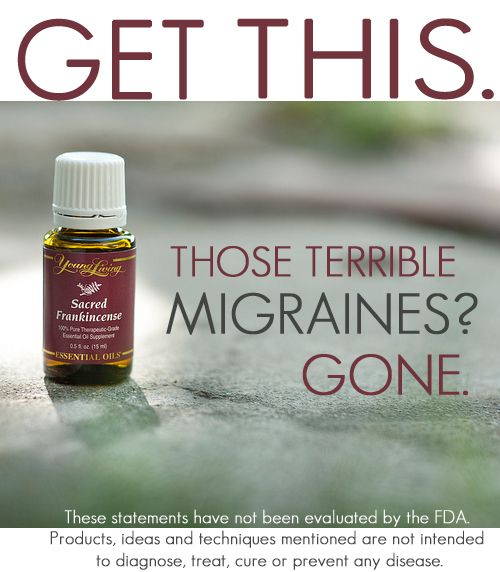 Migraines relief from essential oils • sounds a little to good to be true but when the pain is so debilitating most of will try anything to get relief.