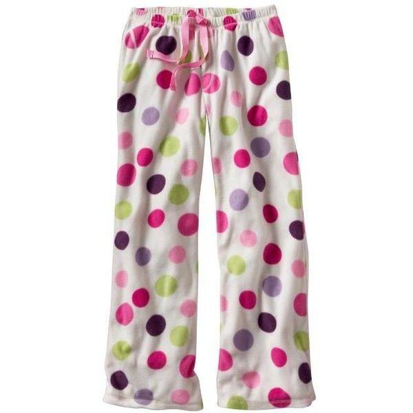 Gap White Dot Micro Fleece Pajama Pants ($11) ❤ liked on Polyvore featuring intimates, sleepwear, pajamas, pants, pijamas, bottoms, gap pajamas, polka dot pj pants, polar fleece pajamas and white pj pants