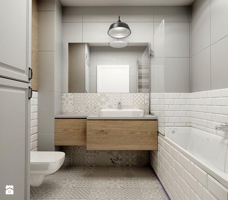 Nowoczesny styl prowansalski - Średnia łazienka w bloku w domu jednorodzinnym bez okna, styl prowansalski - zdjęcie od Przestrzenie
