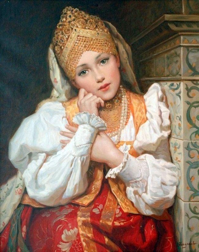 Картинки девушек в древней руси