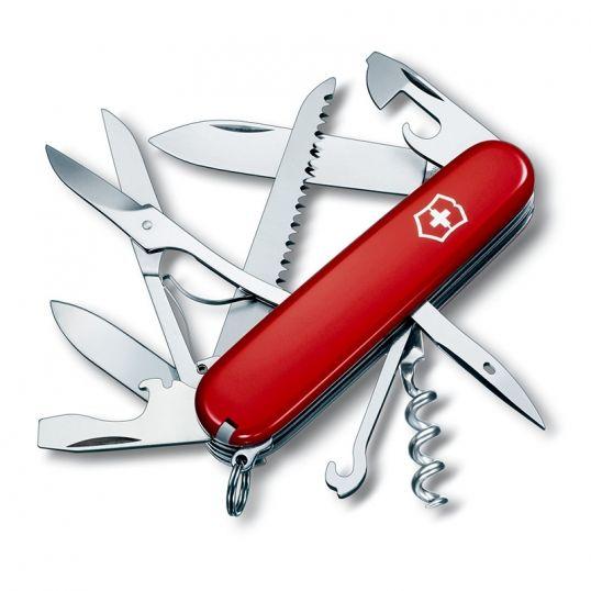 Victorinox Scyzoryk HUNTSMAN czerwony - zawsze pod ręką  #scyzoryk #szwajcarski #podróż #survival #victorinox #huntsman