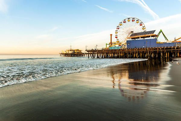 LA's seaside pop-cultural icon. 	  Noteworthy for: The pier has formed the backdrop to dozens of TV shows and blockbusters from 'Charlie's Angels' to 'Baywatch', 'Forrest Gump' and even 'Titanic'.  Read more at our link