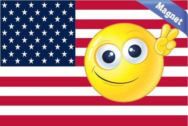 Emoji American Flag Magnet