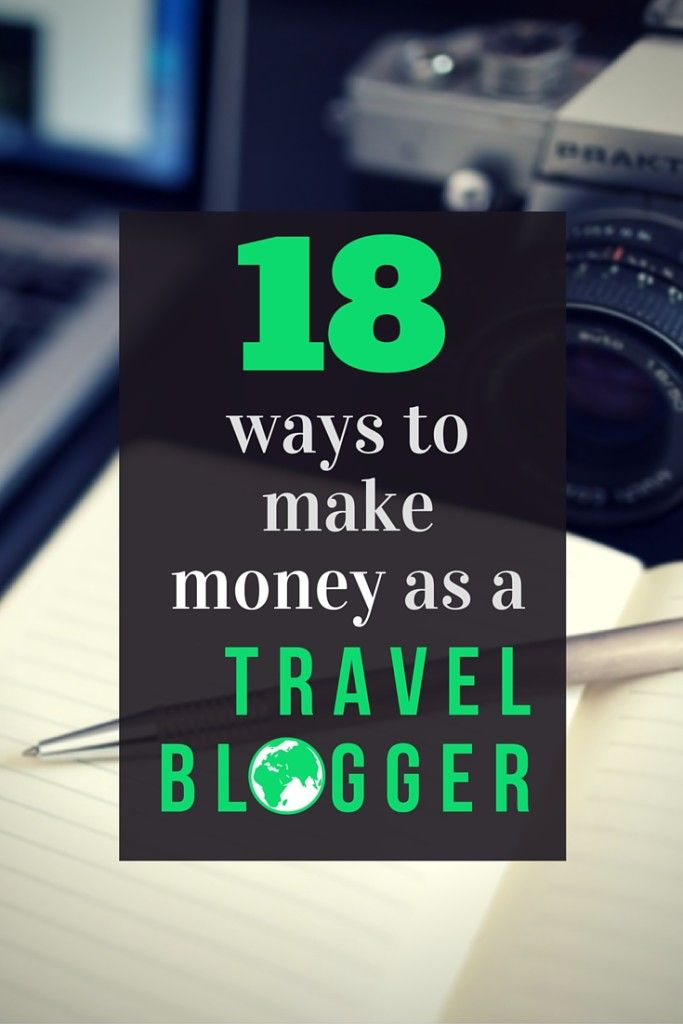 18 ways to make money as a travel blogger.18 unique methods the pros are using to make a full time living travel blogging and tips to help you implement these travel blog monetization options. click though to learn more