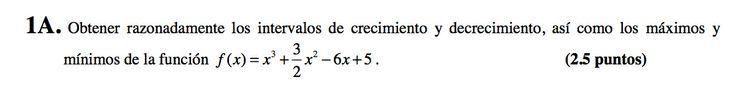 Ejercicio 1A 2008-2009 Junio. Propuesto en examen pau de Canarias. Matemática. Continuidad, derivabilidad y representación de funciones. Límites.