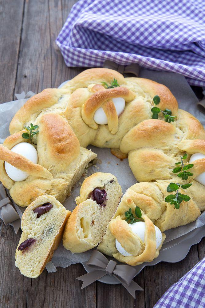 Treccia salata ripiena, pane di Pasqua.  Recipe easter bread Chiarapassion