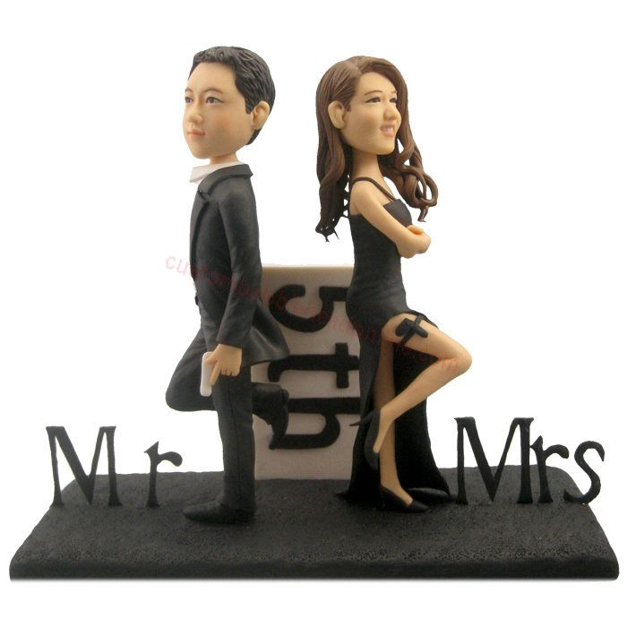 sale bobblehead wedding cake toppers - design your own bobblehead