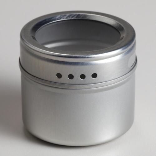 One of my favorite discoveries at WorldMarket.com: Magnetic Storage Tins, Set of 5