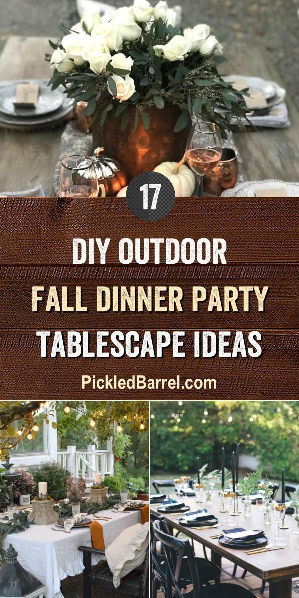 DIY Outdoor Fall Dinner Party Tablescape Ideas