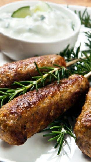 Low FODMAP and Gluten Free Recipe - Lamb & rosemary koftas