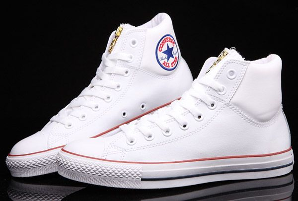 White Chuck Taylor Embroidery Padded Collar Leather All Star [BX57191] - $64.00 : Canada Converse, Converse Ofiicial in Ontario