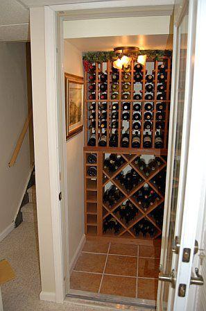 closet conversion wine cellar