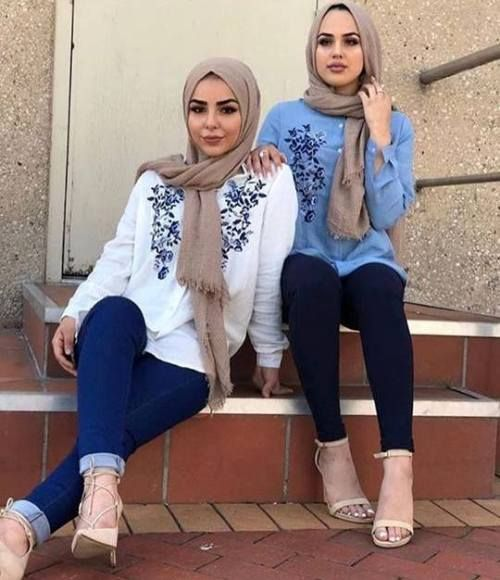 Blouses hijab style-Street fashion style – Just Trendy Girls