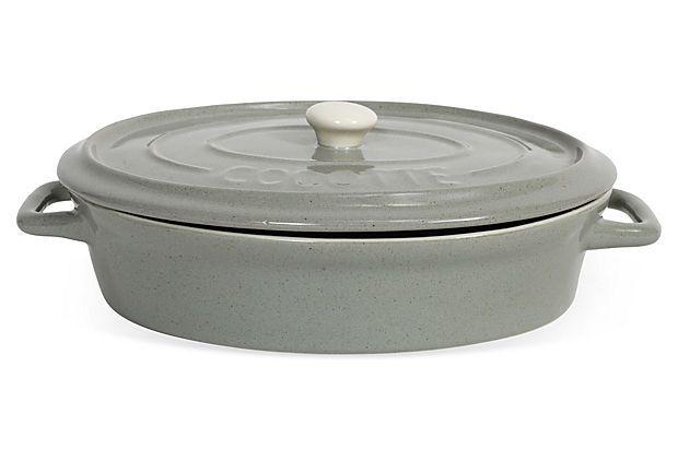 Ceramic Casserole Dish W Lid On Onekingslane Com