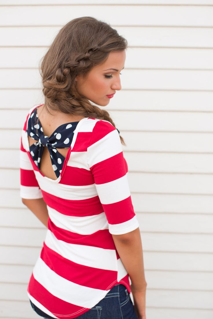 Red White and You Striped Top from Closet Candy Boutique
