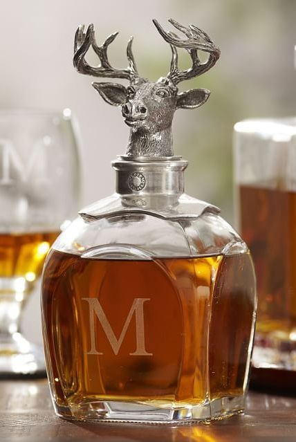 An ingenious stag decanter