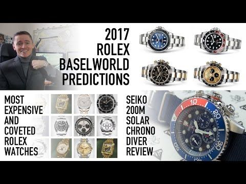 The Best $250 Chronograph Diver – Seiko SSC019 Review – Most Coveted Rolex Models & 2017 Predictions