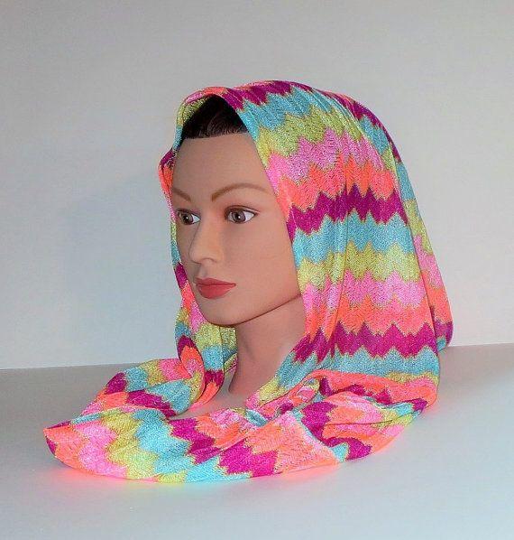 100 Missoni Head Wrap Infinity scarf Snood Zig Zag by TiStephani, $42.00