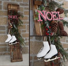 christmas toboggan decoration ideas - Google Search