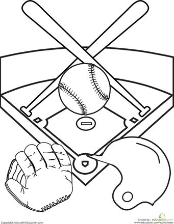 Worksheets: Color the Baseball Diamond