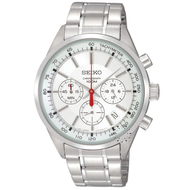 SEIKO Chronograph Stainless Steel Bracelet  153€  http://www.oroloi.gr/product_info.php?products_id=28889