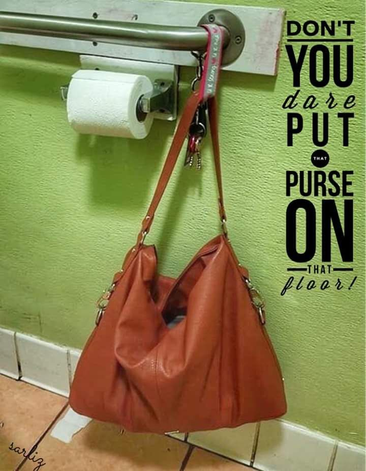 Use a key fob! Don't put your purse on the floor!!!!