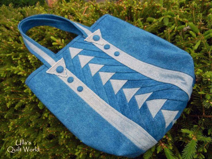 Ulla's Quilt World: Denim quilt bag