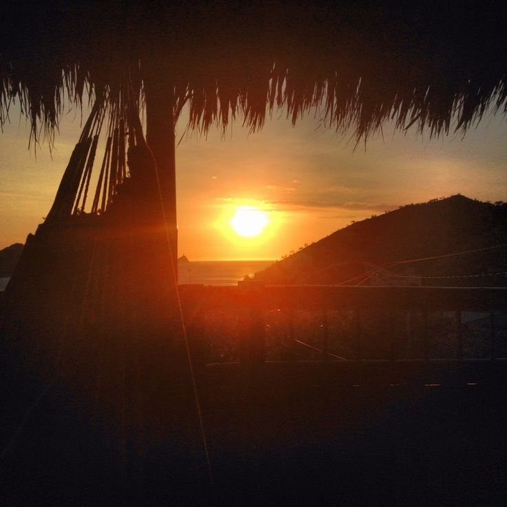 Rooftop sunset in Taganga - Colombia