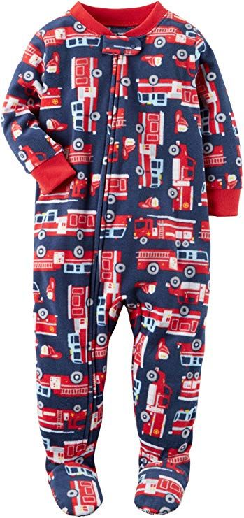 2963313c26d5 Carter s Boys  2T-8 One Piece Firetruck Fleece PJS 4