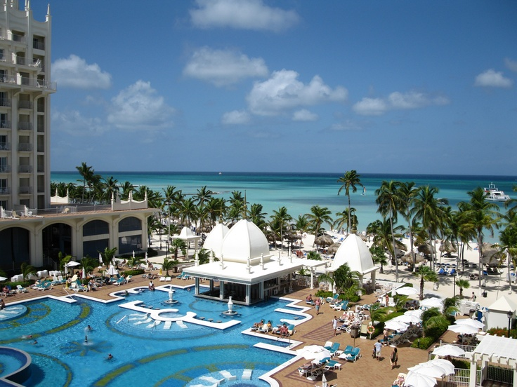 The Palace Riu in Aruba!  Oh, I want to go back and lay on the built-in chairs in the pool!