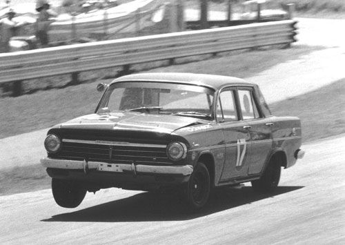 Dick Johnson in his EH Holden  Nov 1969.  GRuckert.    MY DAD HAD AN EH STATIONWAGON WHEN I WAS VERY LITTLE.  BLUE OF COURSE!