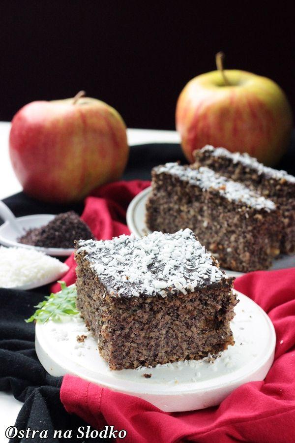 makowiec , makowiec z jablkami , ciasto makowe , z makiem , najlepsze makowce , ostra na slodko , latwe ciasta , szybkie ciasta , blog kulinarny 2x