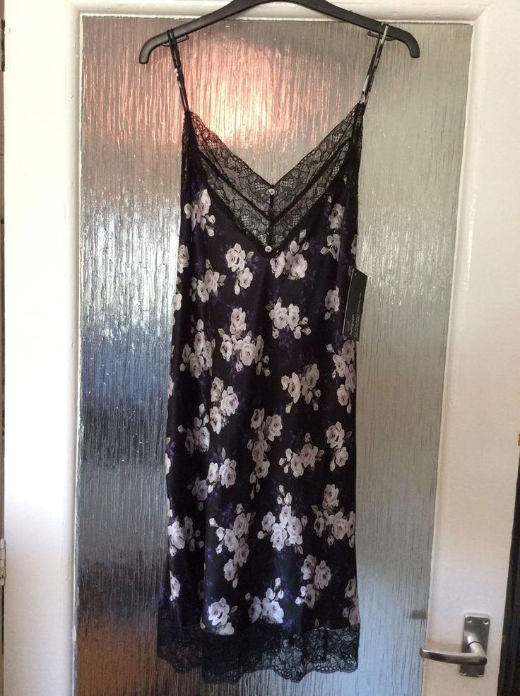 M&S ROSIE AUTOGRAPH ladies night dress 100%SILK with French Lace UK22 EU50 BNWT