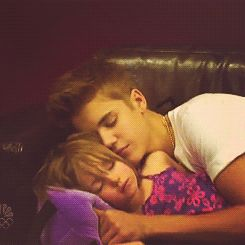 Sleeping beauties. Justin and jazzy.. awwww They have the best big brother and little sister relationship <3