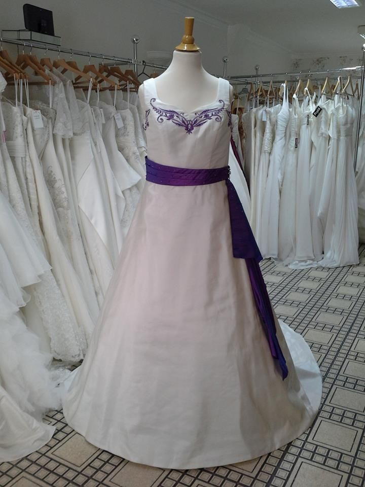 109 best purple wedding dresses images on pinterest for Purple and ivory wedding dress