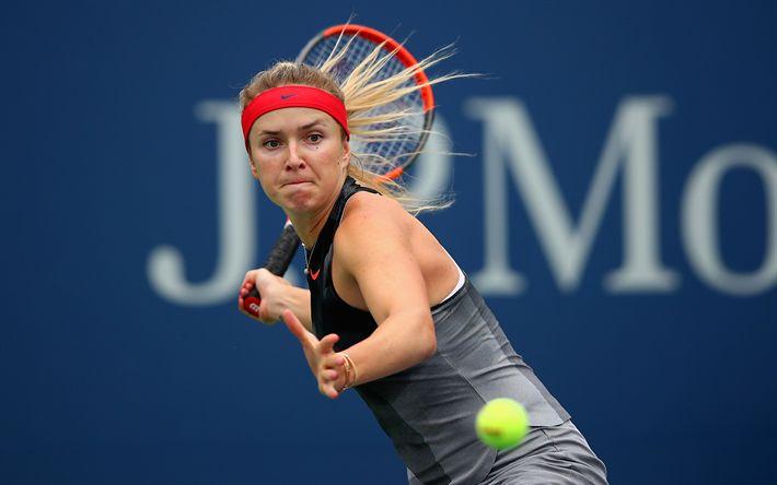 Download wallpapers Elina Svitolina, Ukrainian tennis player, WTA, Ukraine, tennis, portrait