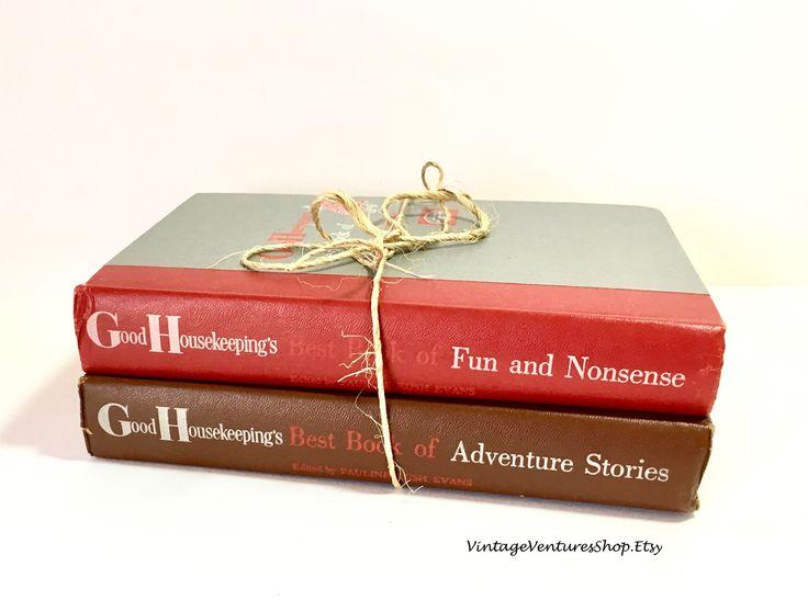 Book Set at #VintageVenturesShop #Etsy to buy click image #books #VintageBooks #OldBooks #1950s #Fifties #MidCentury #FarmhouseDecor #FixerUpperDecor #ShabbyChicDecor #YoungAdultBooks #Homeschool #GoodHousekeepingBooks