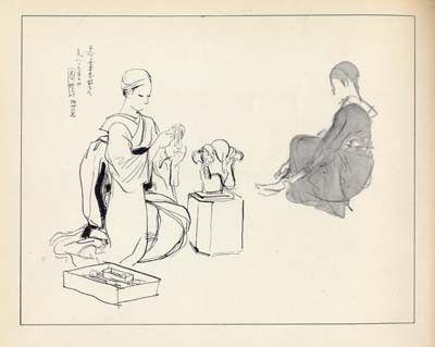 神保朋世:画(『出版美術家連盟1955年鑑』昭和30年)
