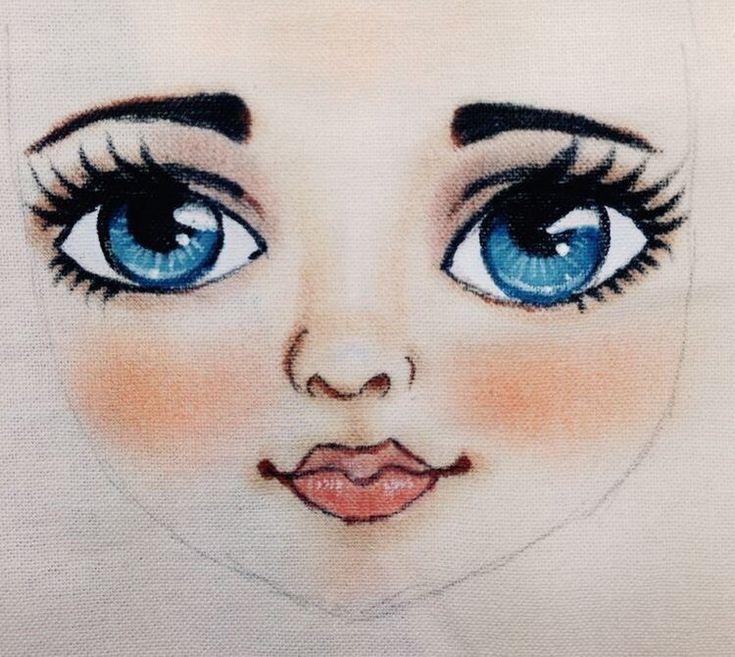 Картинка для детей лицо куклы